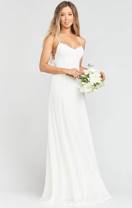 Show Me Your Mumu Godshaw Goddess Gown ~ Wedding Cake Chiffon