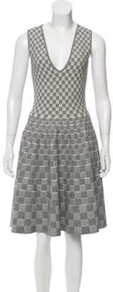 Alexander McQueen A-Line Knit Dress Black A-Line Knit Dress