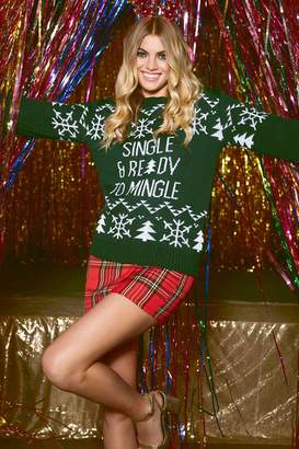 boohoo Single Ready To Mingle Christmas Jumper