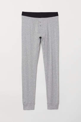 H&M Cotton Long Johns - Gray