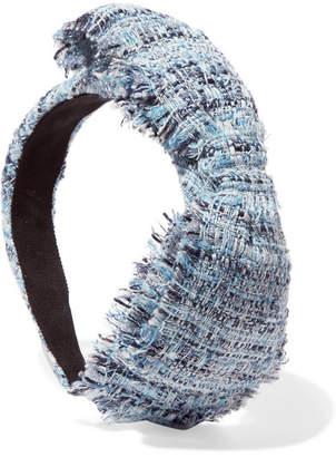 Eugenia Kim Misti Bow-embellished Hemp-blend Bouclé Headband - Blue