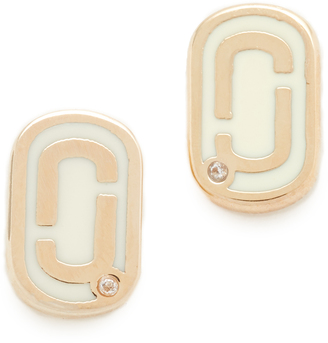 Marc Jacobs Icon Enamel Stud Earrings $50 thestylecure.com