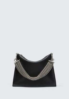 Alexander Wang GENESIS POUCH IN BLACK WITH BOX CHAIN CLUTCH