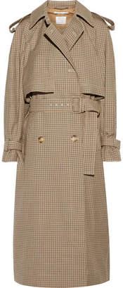 Stella McCartney Checked Wool Trench Coat - Tan