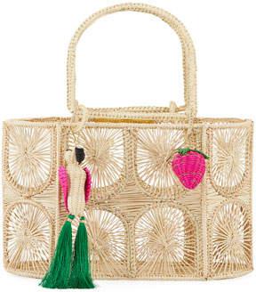 Mercedes Salazar Threaded Straw Tote Bag