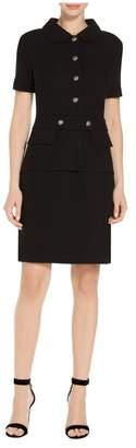 St. John Gail Knit Short Sleeve Dress