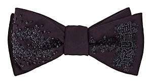 "Title of Work Men's ""Truth"" Beaded Silk Dupioni Bow Tie-Purple"
