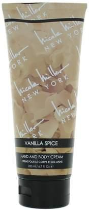 Nicole Miller Vanilla Spice By Hand & Body Cream 6.7 Oz