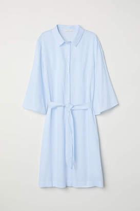 H&M Shirt Dress - White/blue striped - Women