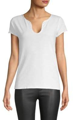 Zadig & Voltaire Tunisien Heathered Cotton Top