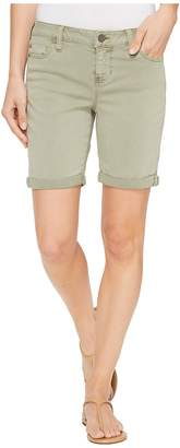 Liverpool Corine Walking Shorts Rolled-Cuff in Stretch Peached Twill in Shadow Green Women's Shorts