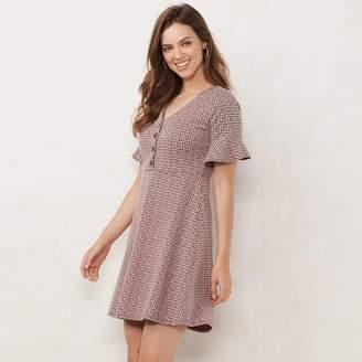 Lauren Conrad Women's Button Front Fit & Flare Dress