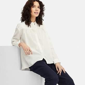 Uniqlo Women's Soft Cotton Long-sleeve Blouse