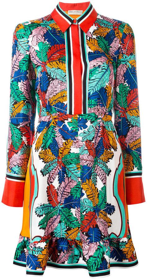 Emilio PucciEmilio Pucci abstract print shirt dress