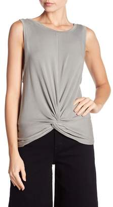 Mustard Seed Twist Front Topstitched Tank Top