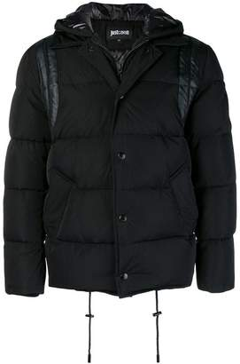 Just Cavalli padded button coat