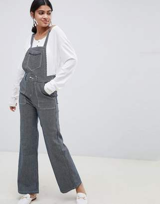 Suncoo striped overalls