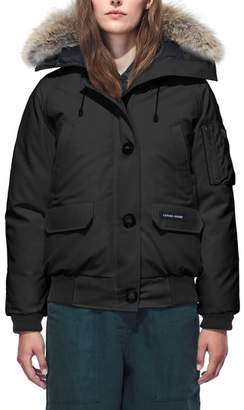 Canada Goose Chilliwack Fusion Fit 625 Fill Power Down Bomber Jacket with Genuine Coyote Fur Trim