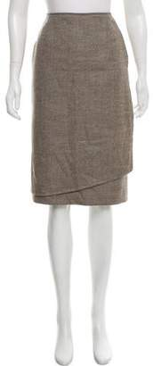 Lafayette 148 Wool-Blend Knee-Length Skirt