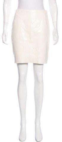 Ralph Lauren Collection Leather Mini Skirt