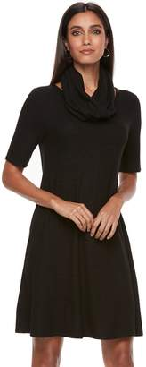 Apt. 9 Women's Infinity Scarf & Marled Dress