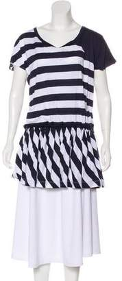 See by Chloe Striped Keyhole Tunic