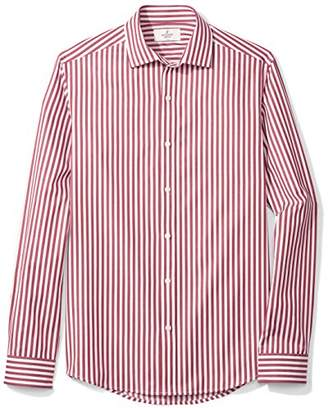 Buttoned Down Men's Fitted Supima Cotton Cutaway-Collar Dress Casual Shirt