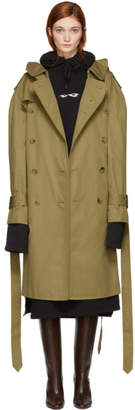 Vetements Beige Mackintosh Edition Parisienne Shrunk Oversized Trench Coat