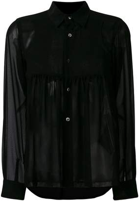 Comme des Garcons sheer long sleeve blouse
