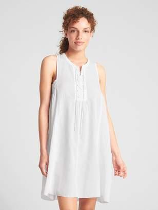 Gap Dreamwell Sleeveless Lace-Up Dress