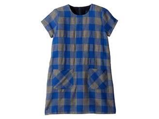 Toobydoo Flannel Check Shift Dress (Toddler/Little Kids/Big Kids)