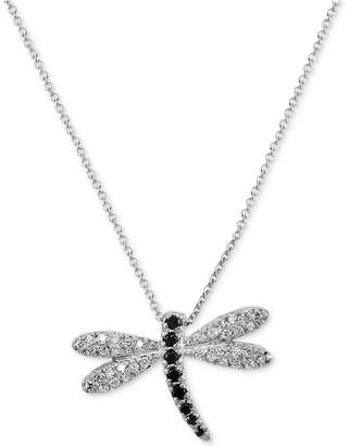 Giani Bernini Cubic Zirconia Dragonfly Pendant Necklace in Sterling Silver, Created for Macy's
