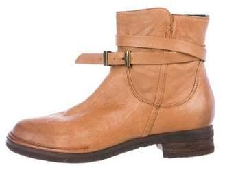Alberto Fermani Leather Round-Toe Boots