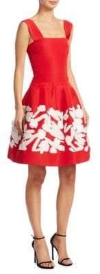 Oscar de la Renta Silk Floral Dress