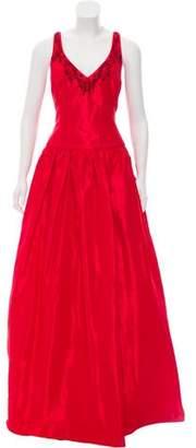 Marchesa Sleeveless Embellished Gown