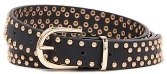Linea Pelle Studded Strap Belt