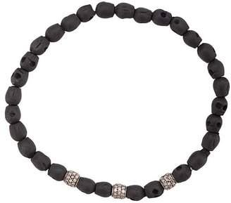 Loree Rodkin skull beaded bracelet
