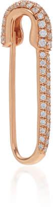 Anita Ko 18K Rose Gold And Diamond Safety Pin Left Earring