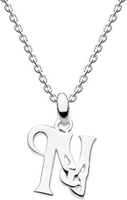 Heritage Sterling Silver Celtic Initial N Necklace of Length 45.7cm