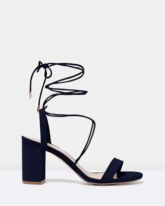 Forever New Macy Ankle Tie Block Heels