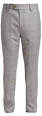 Brunello Cucinelli Men's Para Heathered Wool Trousers