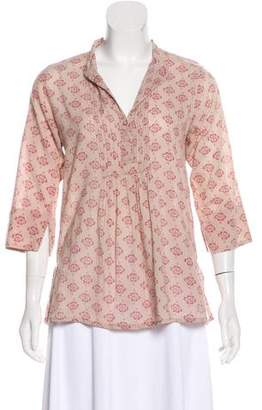Roberta Roller Rabbit Printed Three-Quarter Sleeve Top