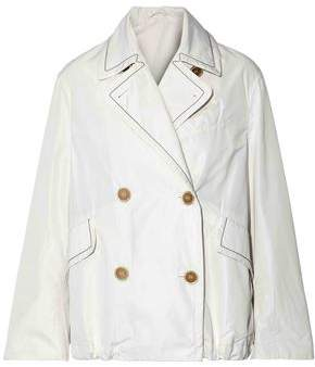 Brunello Cucinelli Double-Breasted Bead-Embellished Shell Jacket
