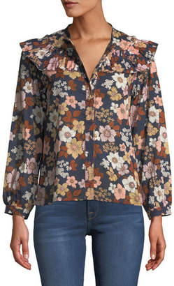 MiH Jeans Hayden Floral-Print Button-Front Top
