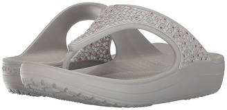 Crocs - Sloane Embellished Flip Women's Sandals $39.99 thestylecure.com