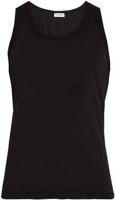 Dolce & Gabbana Scoop-neck cotton-blend tank top