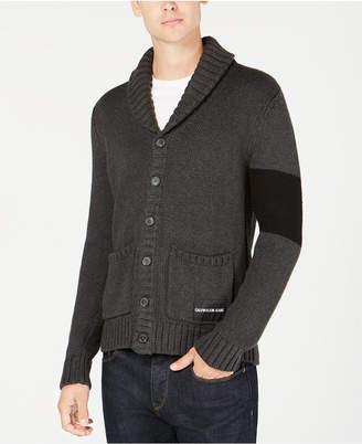 Calvin Klein Jeans Men Varsity Stripe Cardigan