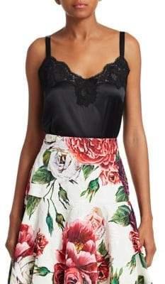 Dolce & Gabbana Silk Blend Lace Camisole