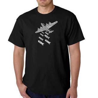 LOS ANGELES POP ART Los Angeles Pop Art Drop Beats Not Bombs Short Sleeve Word Art T-Shirt - Big and Tall