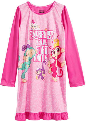 LTB Ame Little & Big Girls Fingerlings-Print Nightgown